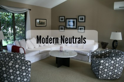 Modern Neutrals Living Room - Delano Designs