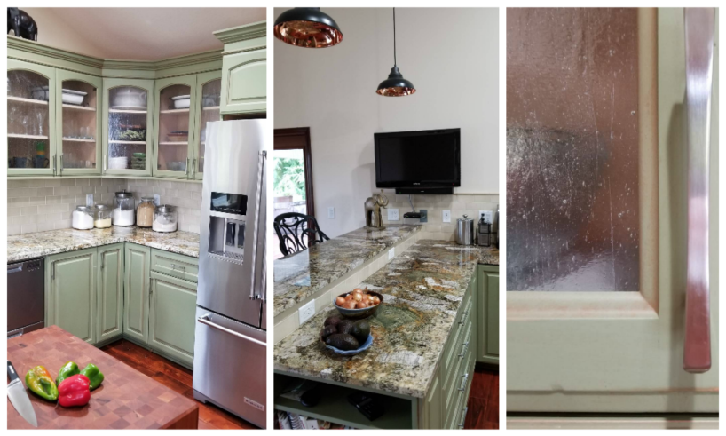 After kitchen collage